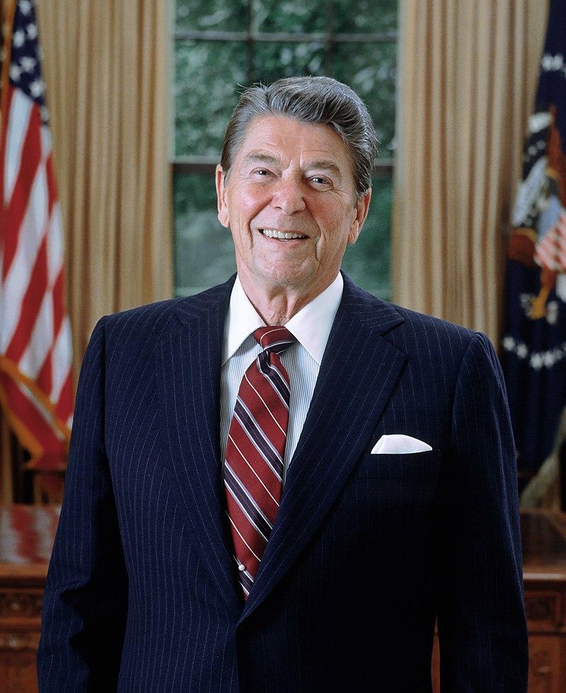 Ronald Reagan's presidential portrait, 1985