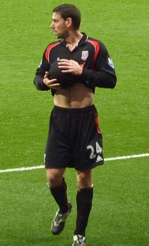 Rory Delap - Delap playing for Stoke City in 2010