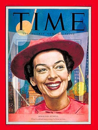 Rosalind Russell - Rosalind Russell in Wonderful Town, on the cover of Time (March 30, 1953)