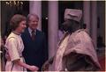 Rosalynn Carter and Jimmy Carter with Lt. Gen. Olusegun Obasanjo of Nigeria - NARA - 176453.tif