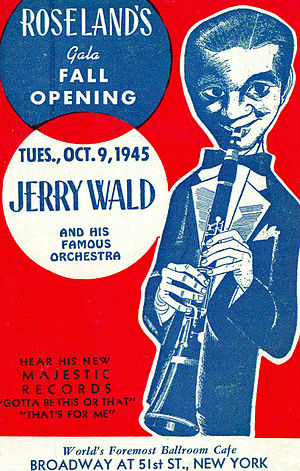 """Roseland Ballroom - Postcard promoting the club's """"Fall Opening"""" of October 9, 1945"""