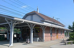 The Roslyn station on the Long Island Rail Road, located within the northern part of Roslyn Heights.