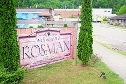 Welcome sign in Rosman