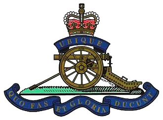 East Riding Royal Garrison Artillery - Cap Badge of the Royal Regiment of Artillery