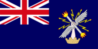 Union Jack and stylised, winged hand on a blue background