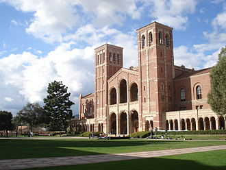 University of California, Los Angeles - Royce Hall, one of the original four buildings, inspired by Basilica of Sant'Ambrogio