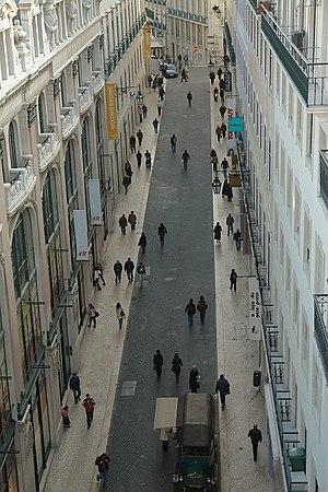 Chiado - View of Carmo Street in the Chiado.