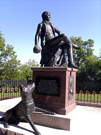 Memorial to the young Bismarck at the Rudelsburg in Saxony-Anhalt (Source: Wikimedia)