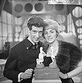 Rudy Carrellshow voor Vara-TV, Rudt Carrell hier met Annie Palmen, Bestanddeelnr 914-8023.jpg