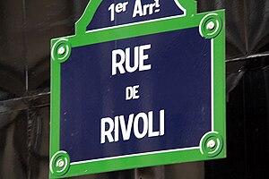 Rue de Rivoli - Street plate