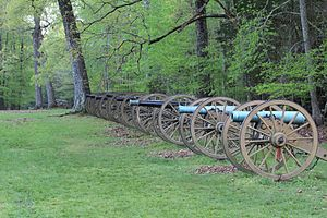 Battle of Shiloh - Ruggles' Battery at Shiloh National Military Park.