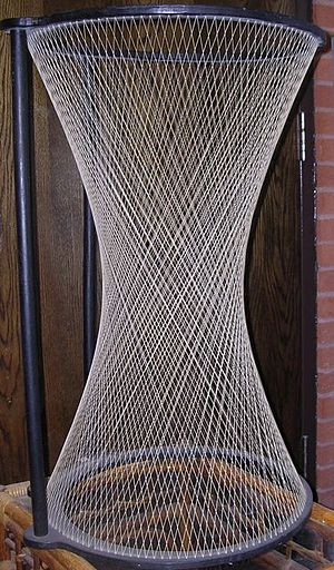 Ruled surface - A hyperboloid of one sheet is a doubly ruled surface: it can be generated by either of two families of straight lines.