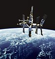 Russia& -39;s Mir space station is backdropped against Earth& -39;s horizon. Original from NASA . Digitally enhanced by rawpixel. - 41997987775.jpg