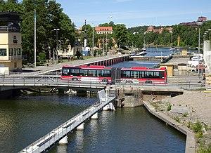 Södertälje Canal - Södertälje lock.