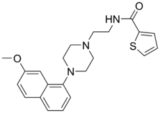 Skeletal formula of S-14671