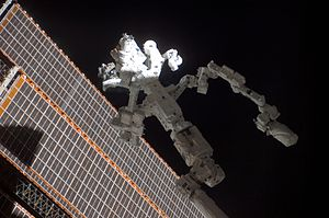 Dextre - Dextre on the end of Canadarm2