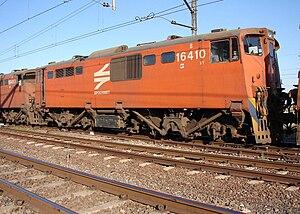 South African Class 6E1, Series 7 - No. E1851 as Class 16E no. 16-410B, Christiana, 22 September 2006