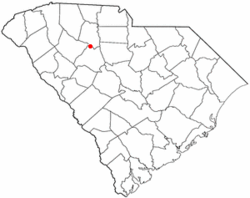 Location of Whitmire, South Carolina