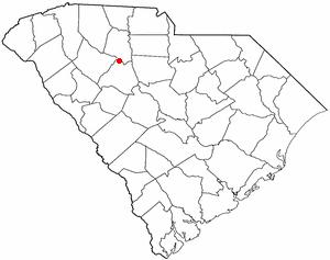 Whitmire, South Carolina - Image: SC Map doton Whitmire