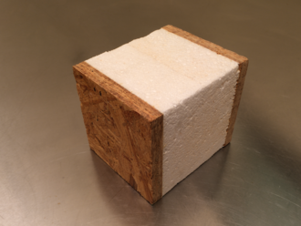 Structural insulated panel - SIPs are most commonly made of OSB panels sandwiched around a foam core made of polystyrene.