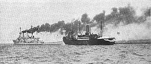 SMS Prinz Heinrich - Prinz Heinrich coaling from Hermann Sauber