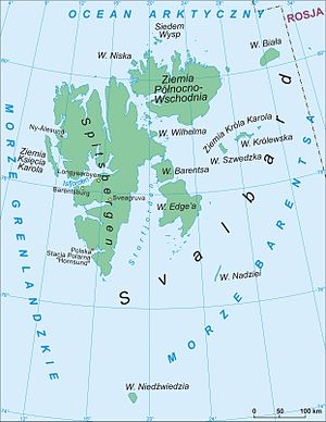 Outline of Svalbard - An enlargeable map of Svalbard