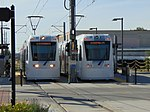 S Line cars at 500 East station, South Salt Lake, Utah. Oct 16.jpg