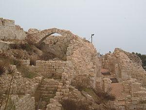 Safed - Ruins of the Crusader-Mamluk-era fortress of Safed
