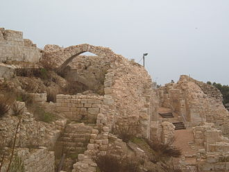 Safed - Ruins of the Crusader-Mamluk-era fortress of Safed