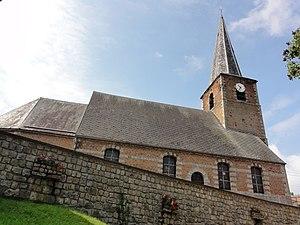 Saint-Martin-sur-Écaillon - Image: Saint Martin sur Écaillon (Nord, Fr) église, vue latérale