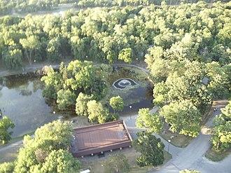 St. Vital Park - St. Vital Park from above
