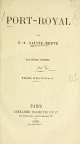Sainte-Beuve - Port-Royal, t2, 1878.djvu