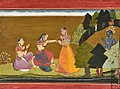 Sakhi take Radha to meet krishna.jpg
