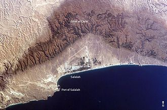 MV Samho Jewelry - Aerial photo of Salalah.