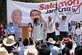 Salomón Jara y Andrés Manuel López Obrador 5to día de recorrido en San Jacinto Amilpas.JPG