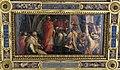 Salone dei 500, soffitto, clemente IV dà le sue insegne ai capitani di parte guelfa, di vasari.JPG