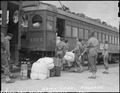 San Pedro, California. Army military police load the last baggage belonging to evacuees of Japanese . . . - NARA - 536781.tif
