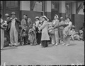 San Pedro, California. Evacuated residents of Japanese ancestry await transportation to assembly ce . . . - NARA - 536776.tif
