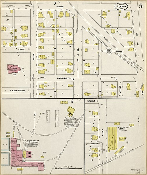 Albany Indiana Map.File Sanborn Fire Insurance Map From Albany Delaware County