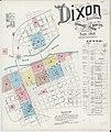 Sanborn Fire Insurance Map from Dixon, Lee County, Illinois. LOC sanborn01827 002-1.jpg