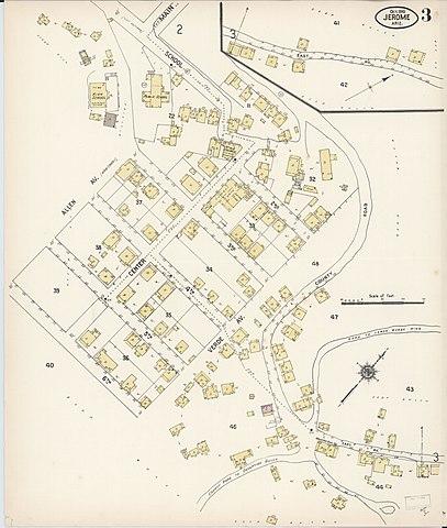 Map Of Arizona Including Jerome.File Sanborn Fire Insurance Map From Jerome Yavapai County Arizona