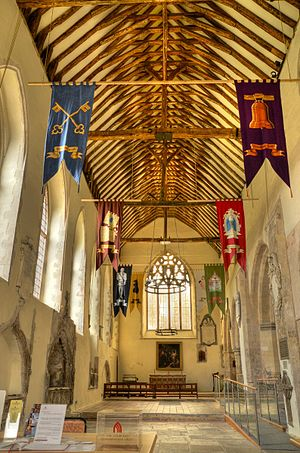 St Peter's Church, Sandwich - The interior of St Peter's Church
