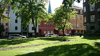 St. Olufs Cemetery small park in Aarhus