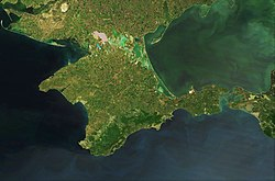 Satellite picture of Crimea, Terra-MODIS, 05-16-2015