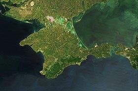 Спутниковый снимок Крыма