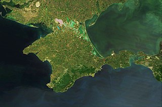 Crimea peninsula in the Black Sea