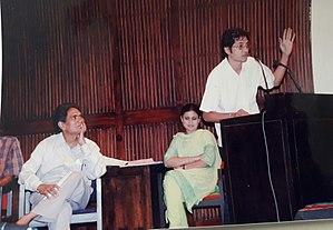 Saumya Joshi - Joshi on mic, Ahmedabad, 1998