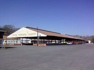 Garden City, Georgia - Located at 701 West U.S. Highway 80, the Savannah State Farmers' Market is one of twelve facilities operated by the State Department of Agriculture and used to support the local economy.