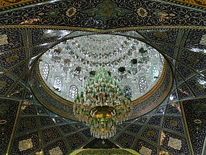 Chandelier - A chandelier in Sayyidah Ruqayya Mosque, Damascus, Syria