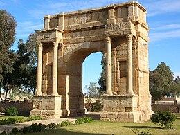 Arco trionfale della tetrarchia a Sbeitla (Tunisia)